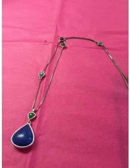 Silver Long Pendent Necklace