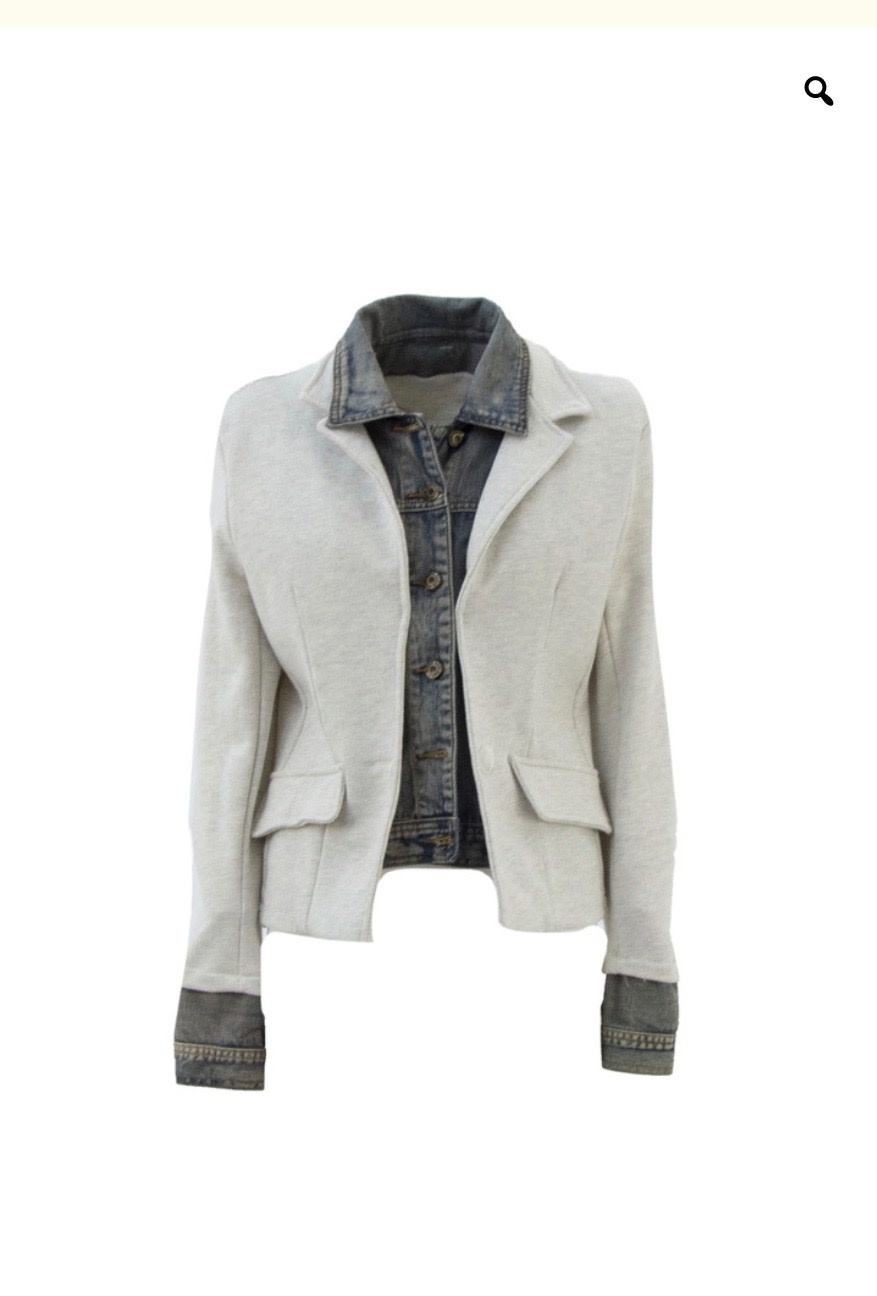Denim Layered Blazer Jacket