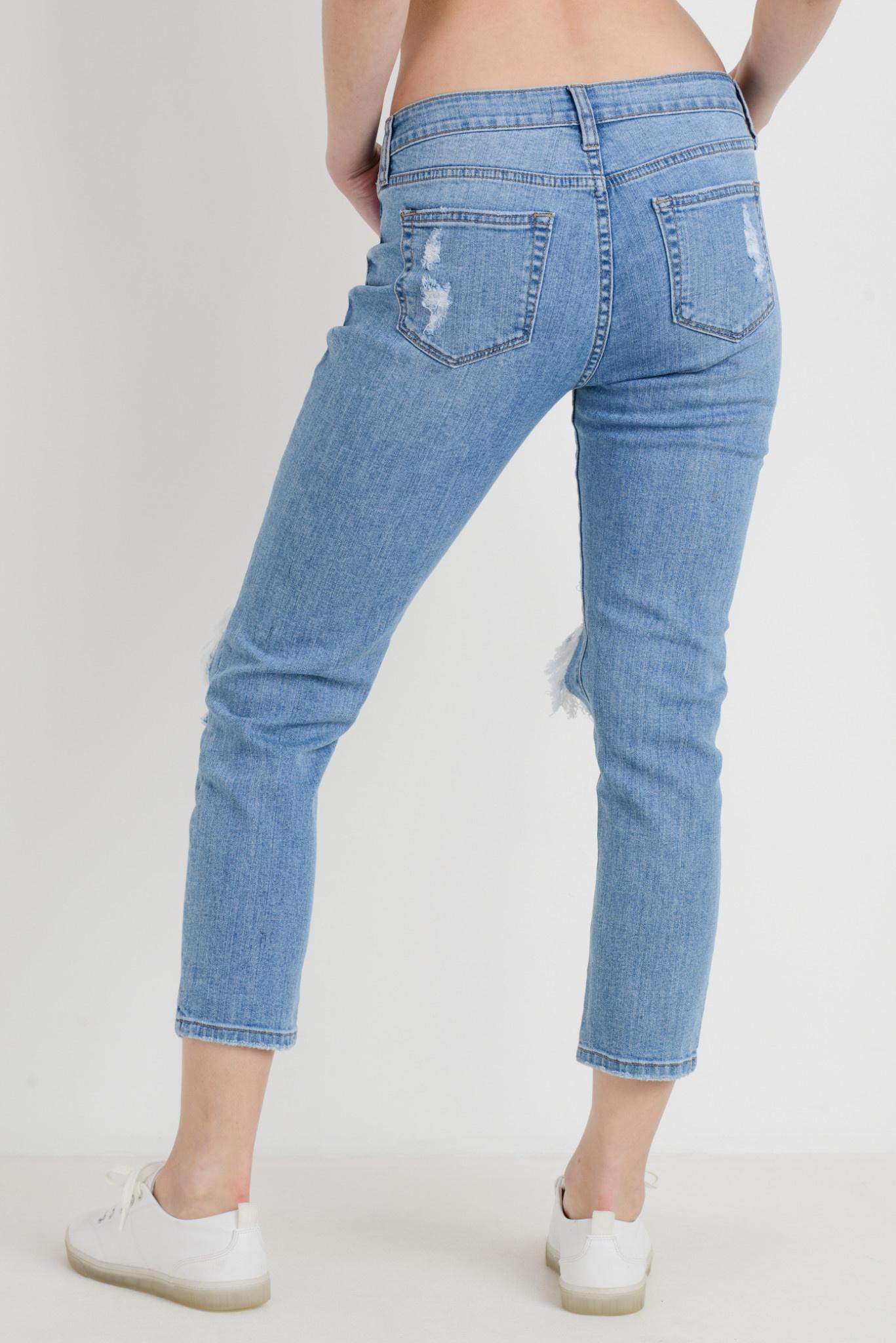 Knee Blow Skinny Boyfriend Jeans