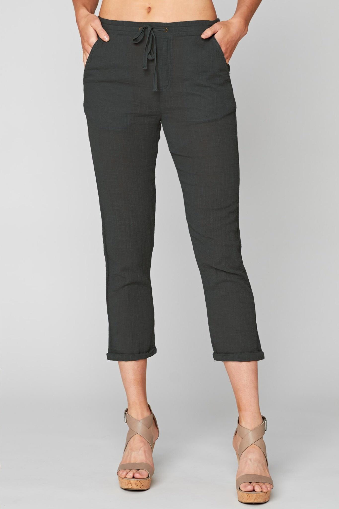 Gauze Drawstring Pants