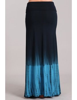 Ombre & Tie Dye Maxi Skirt