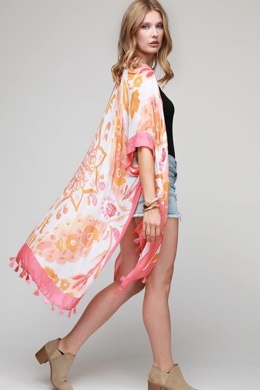 Watercolor Floral Kimono