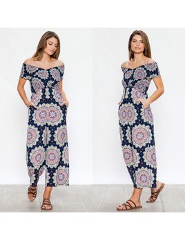 Medallion Print Jumpsuit
