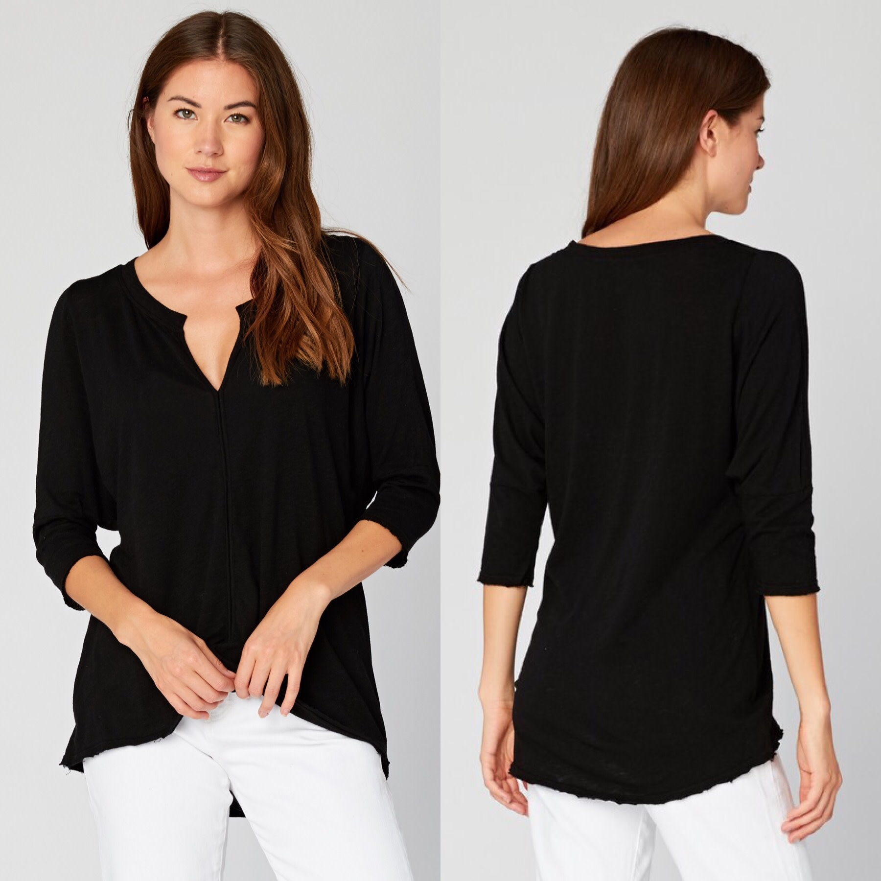 Henley V Neck top