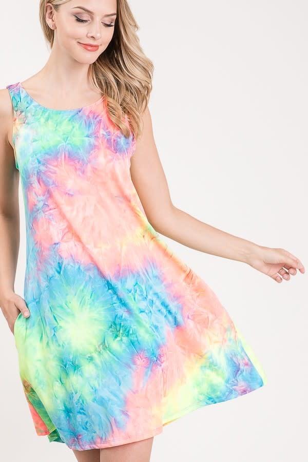 Tie Dye Dress with Pockets