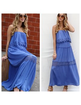 Off Shoulder Tube Maxi Dress