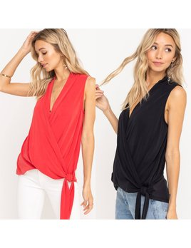 Sleeveless Wrap Top