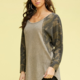 Waffle Top with Camo Sleeves