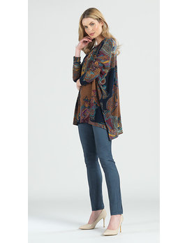 Paisley Print Tunic Sweater