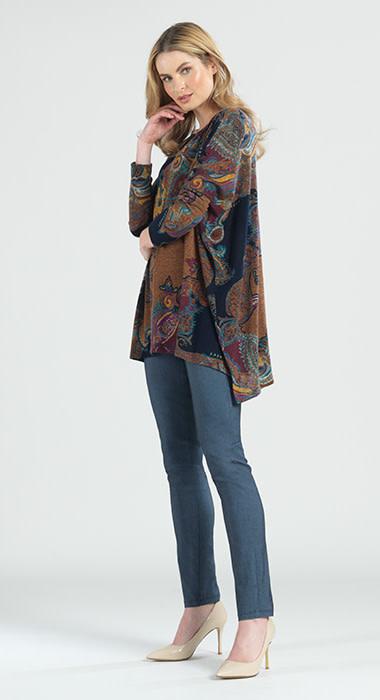 Paisley Print Tunic Sweater