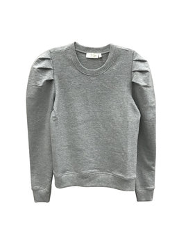 Pullover Sweatshirt with Puff Sleeves