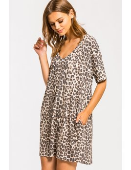 Leopard Print Boxy Dress