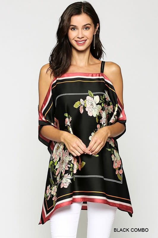 Floral Off Shoulder Tunic