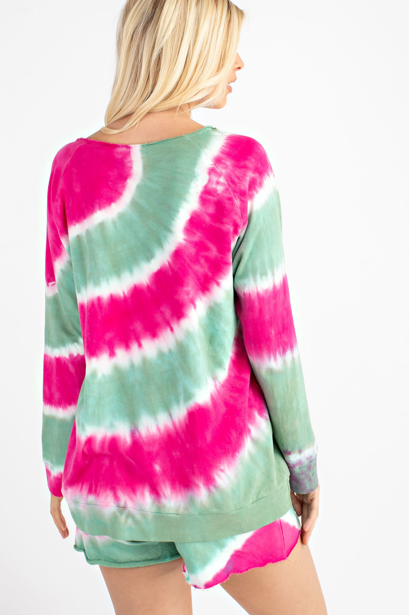 Tie Dye Cotton French Terry Top