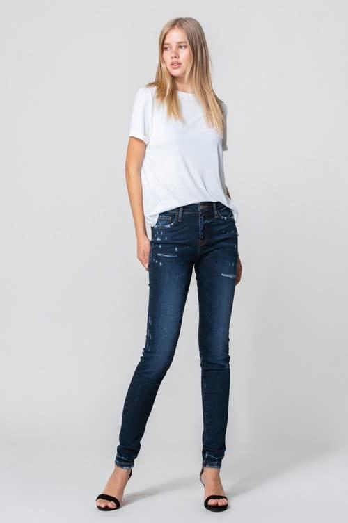 Cat Scratch Skinny Jeans