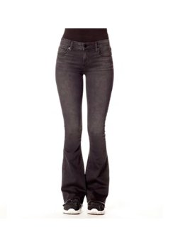 Stone Washed Flare Mid Rise Jeans