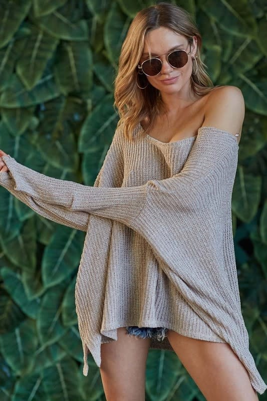 Ribbed Loose Sweater