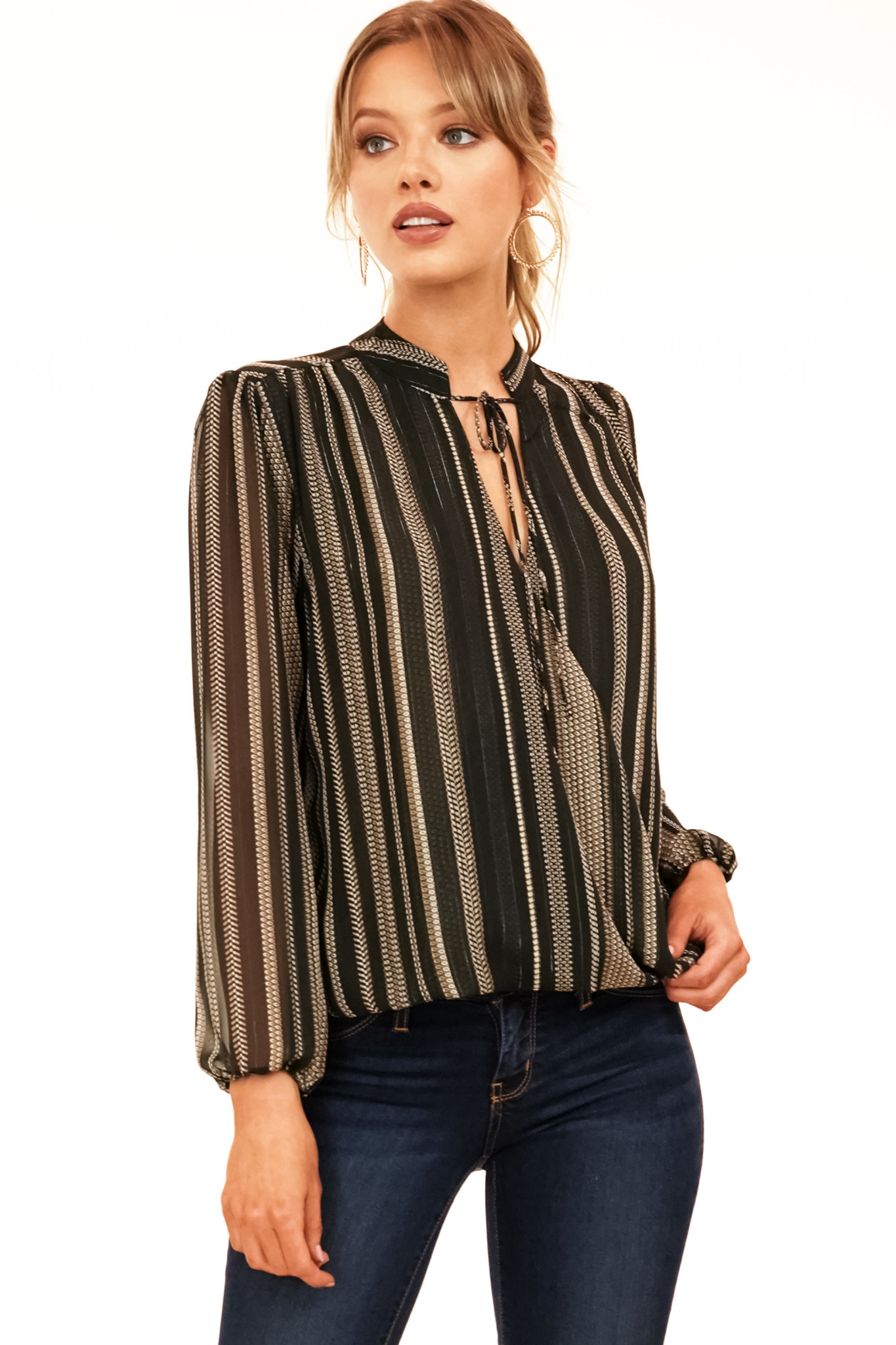 Chiffon Surplus Top