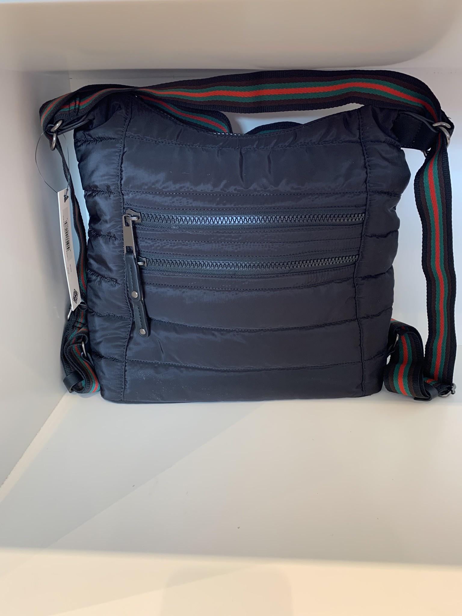 Nylon Convertible Hobo Bag