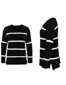 Stripe Fuzzy Sweater