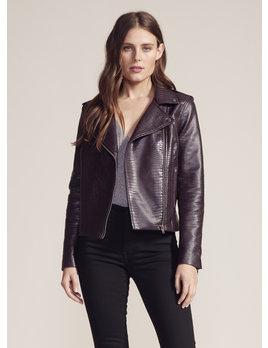 Lizard Faux Leather Jacket