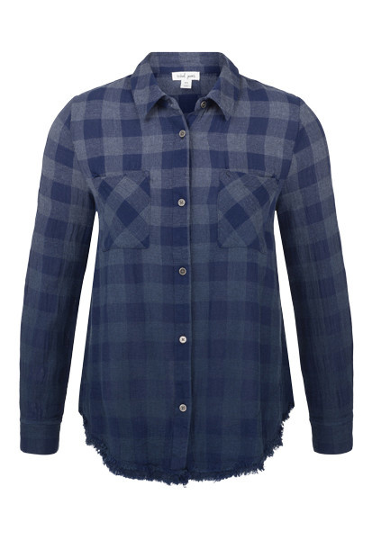 Ombre Flannel with Frayed Hem