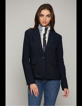 Tweed Insert Hooded Blazer