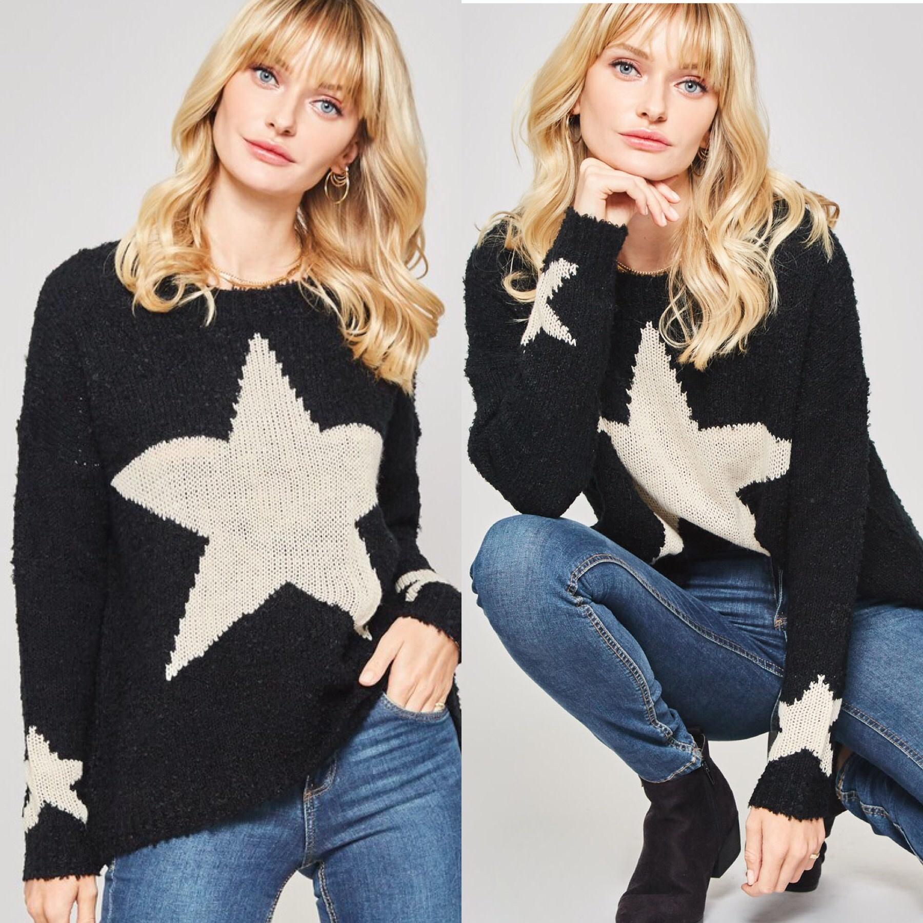 Star Print Sweater