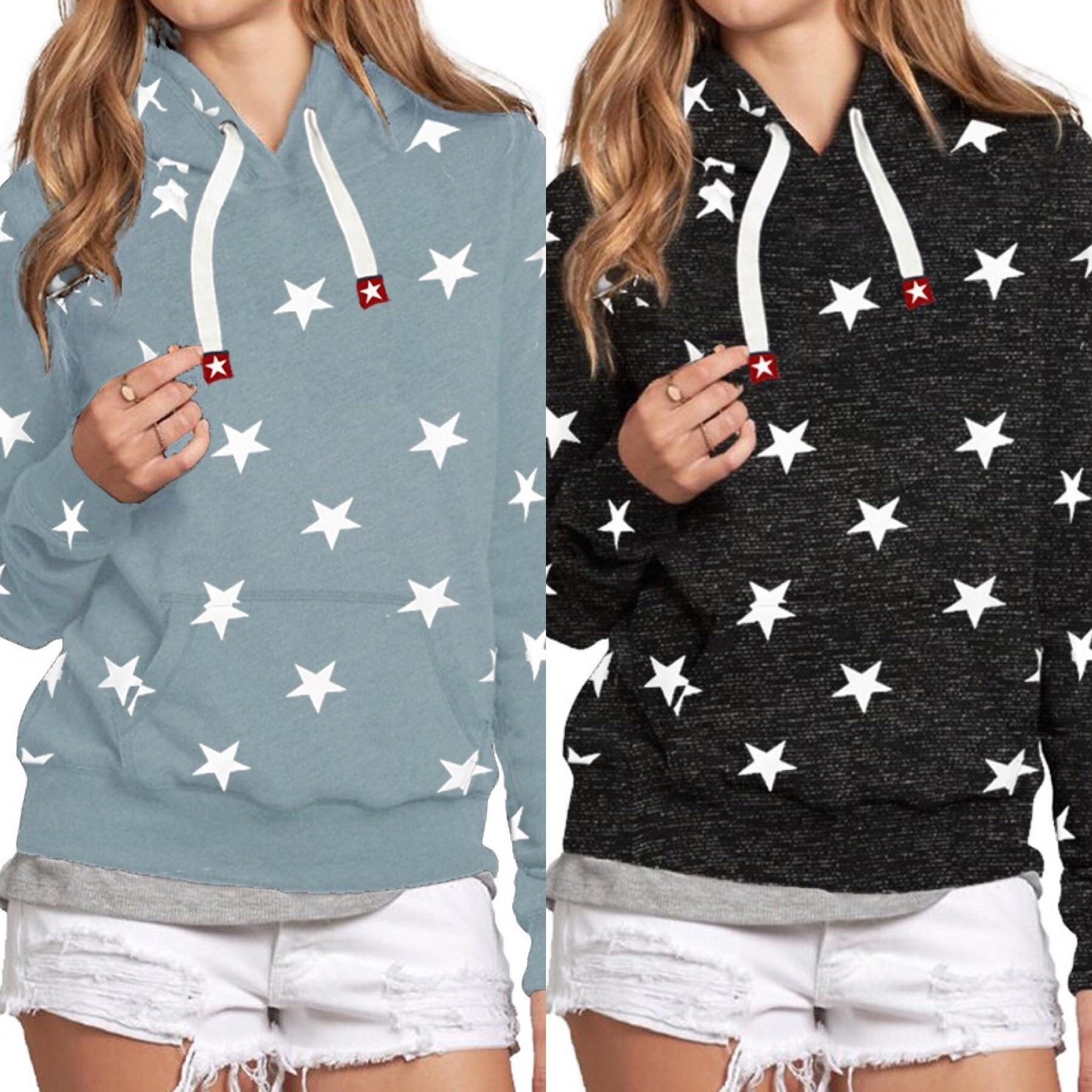 Star Print Pullover