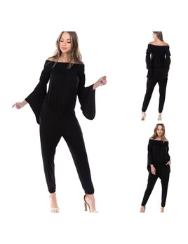 Bell Sleeve Off shoulder Jumpsuit