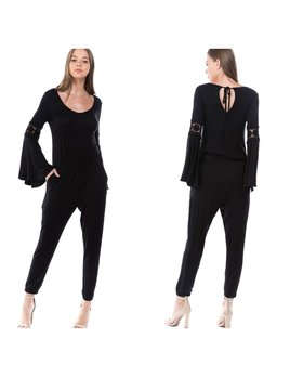 Bell & Lace Sleeve Jumpsuit