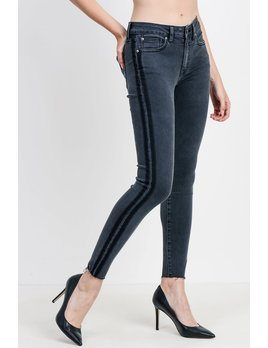 Shadow Stripe Skinny Jeans