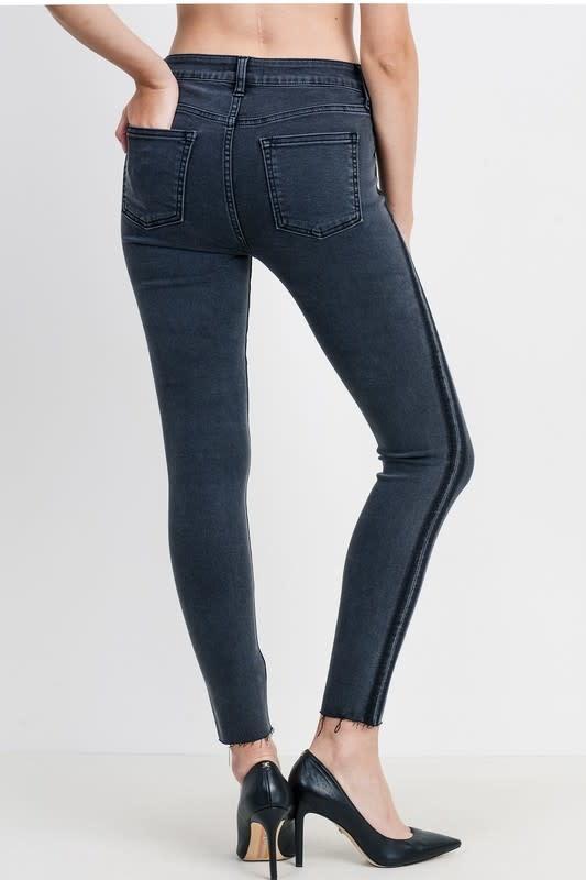 Shadow Stripe Skinny Jeans