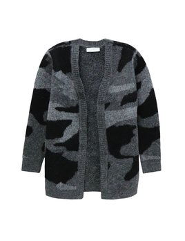 Camouflage Knit Cardigan