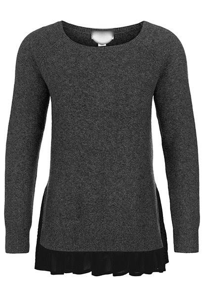 Sweater with Ruffle Hem