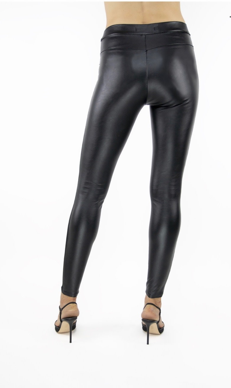 High Rise Vegan Leather Leggings