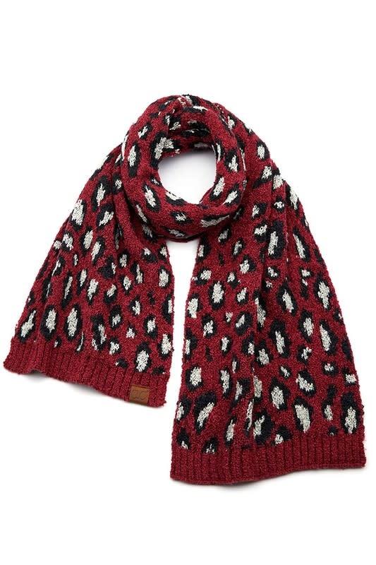Leopard Knit Scarf