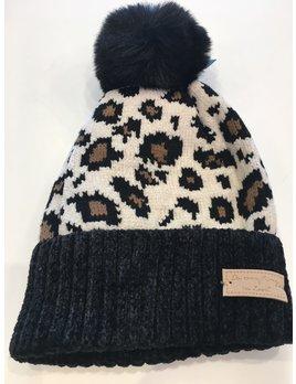 Leopard Chenille Cuff Beanie