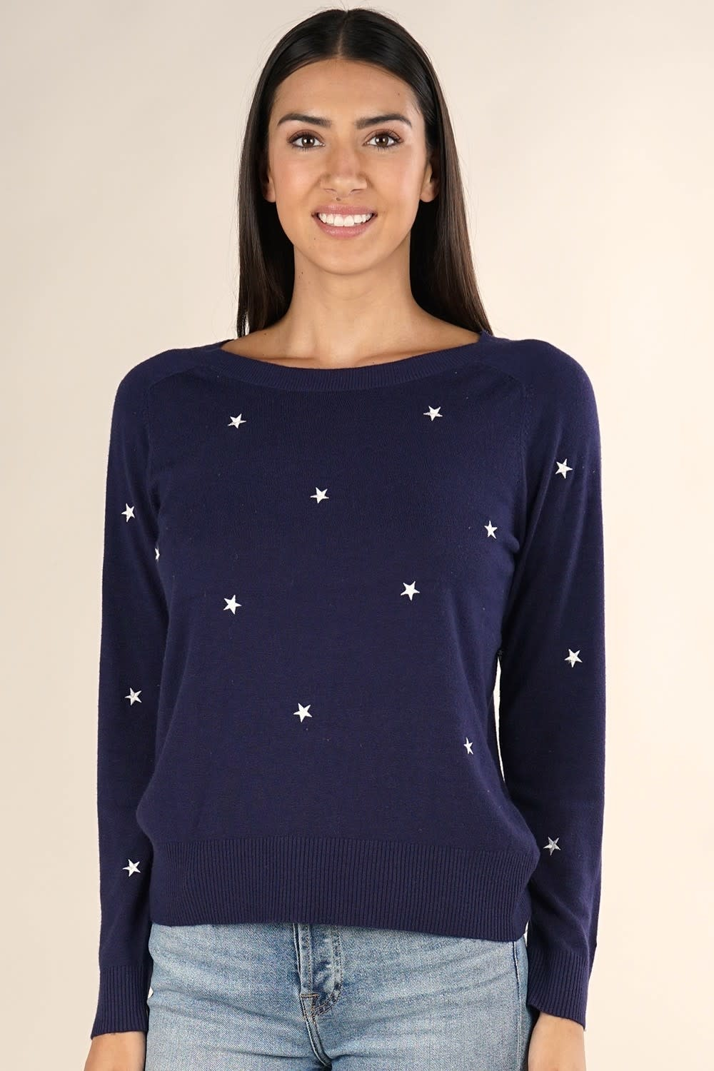 Star Embroidered Sweater