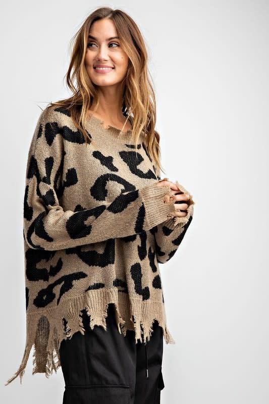 Animal Pattern Knit Sweater