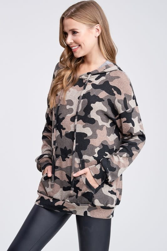 Camouflage Hoodie with Pocket