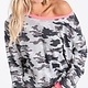 Camouflage Terry Pullover Top