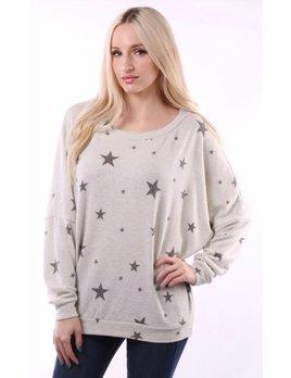Dolman Sleeve Star Sweatshirt