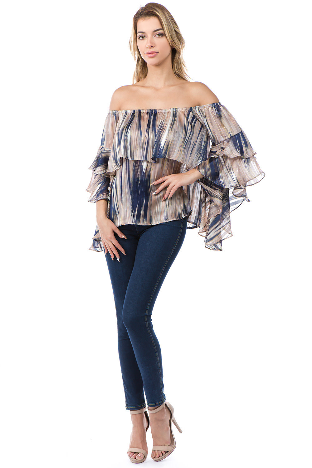 Off Shoulder Double Layer Top