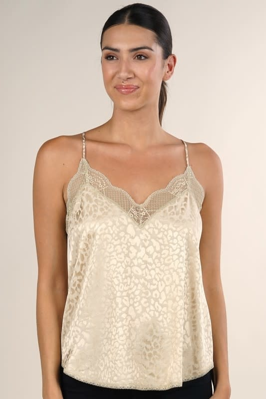 Animal Print Satin Camisole