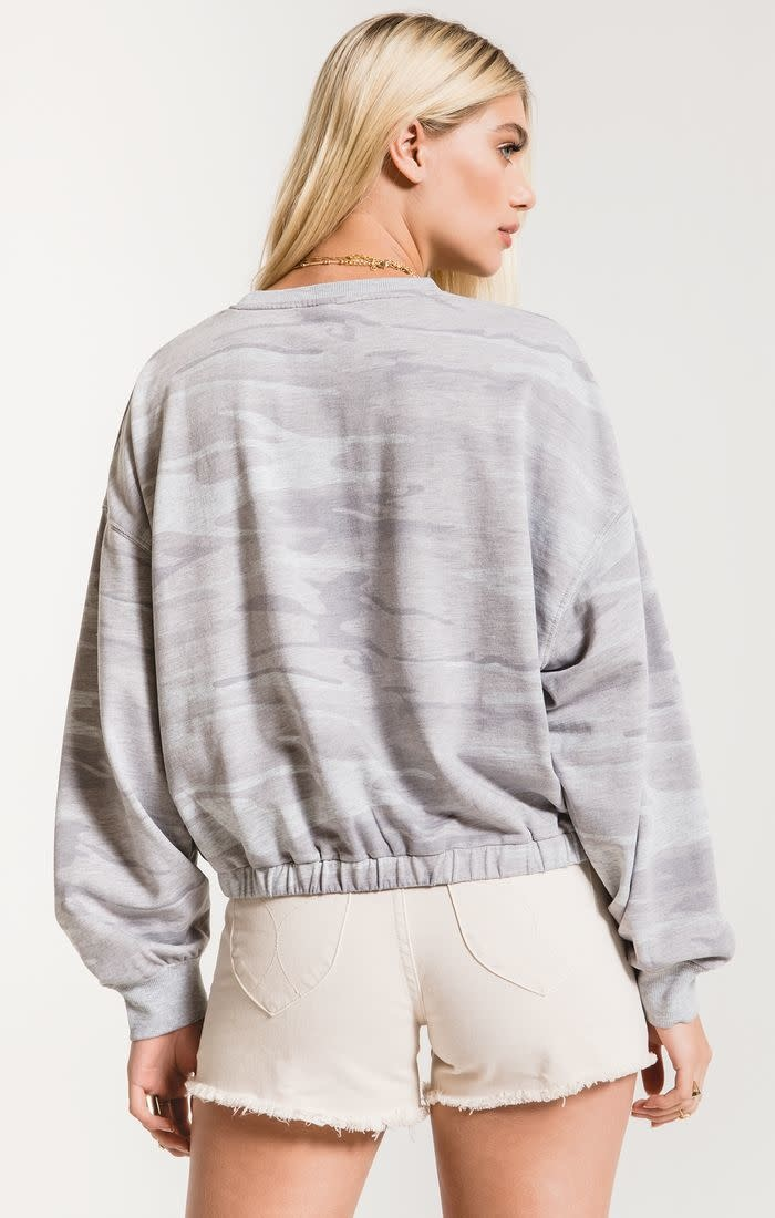 Camouflage Relaxed Pullover