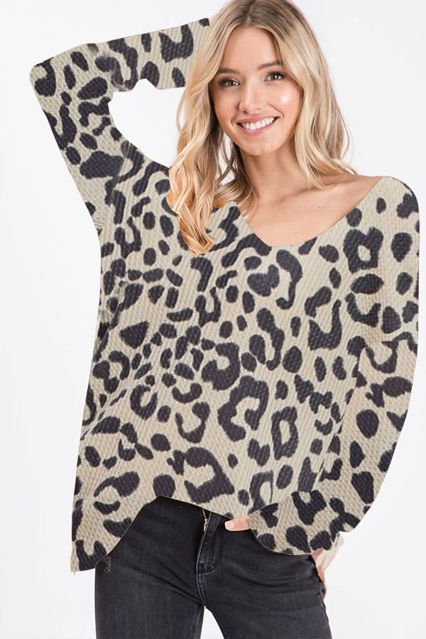 Leopard Print Thermal Top