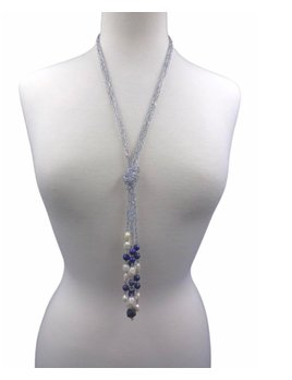 Beaded Crystal and Stone Necklace