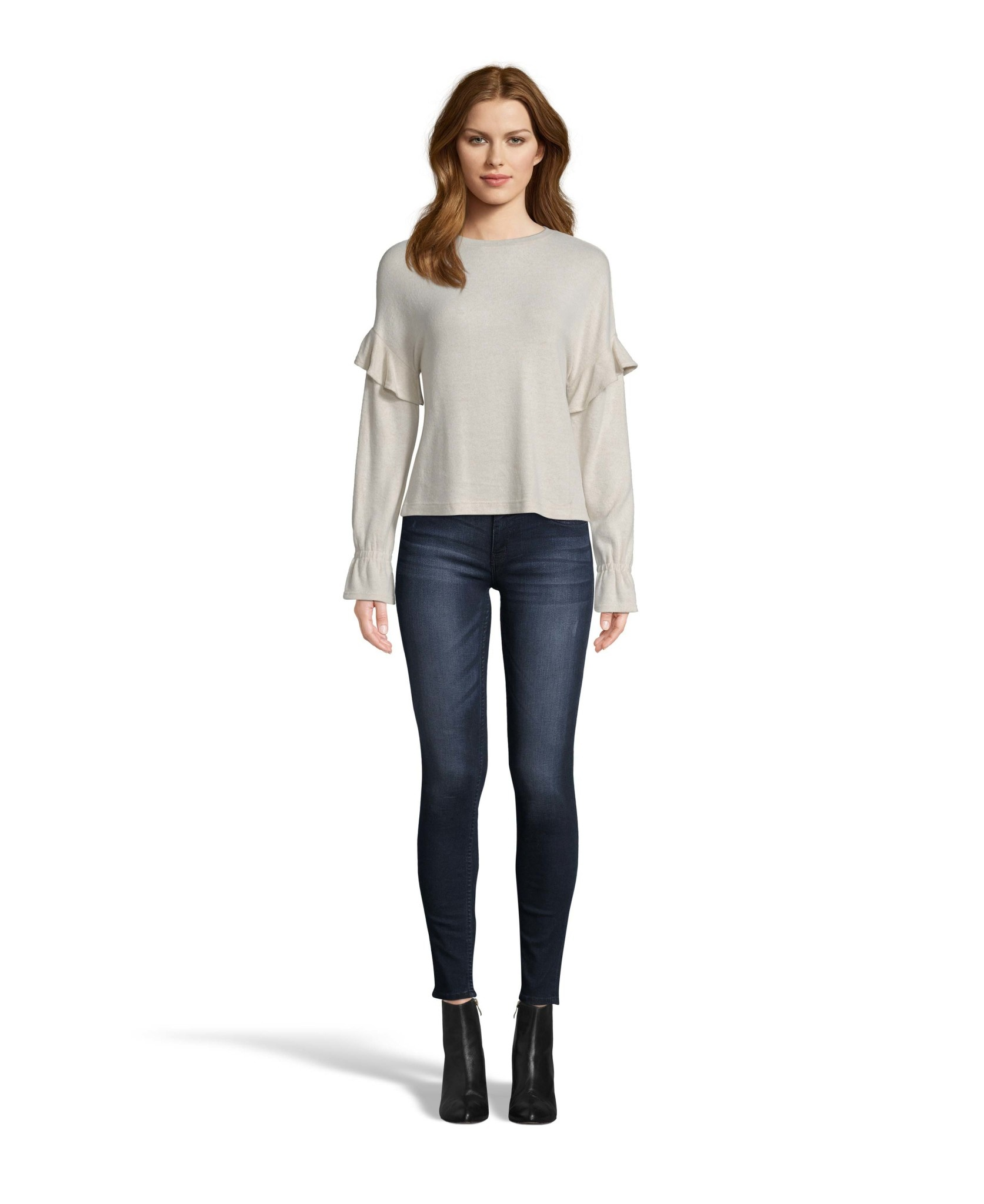 Soft Round Neck Bell Sleeve Top