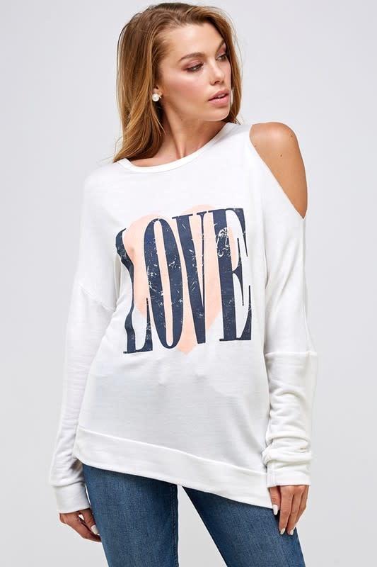 One Cold Shoulder Love Top